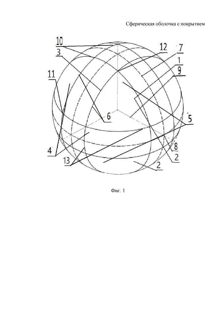 Сферическая оболочка с покрытием