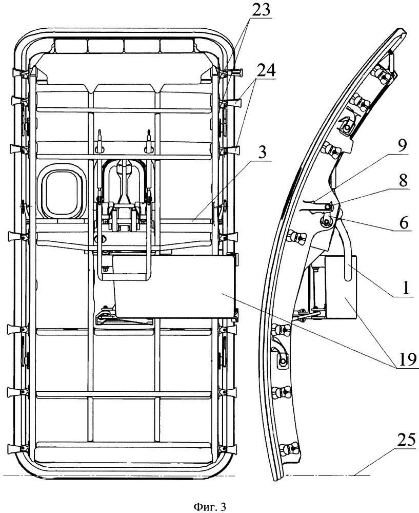 Устройство управления дверью самолёта