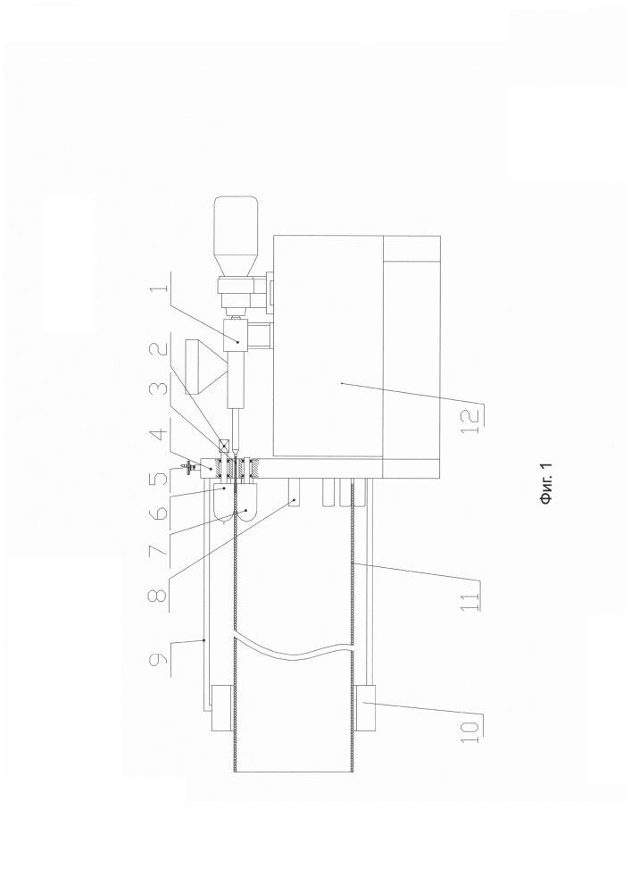 Способ и устройство для струйного формования полимерной трубы
