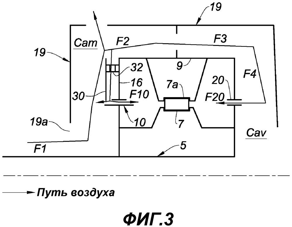 Камера опорного подшипника газотурбинного двигателя