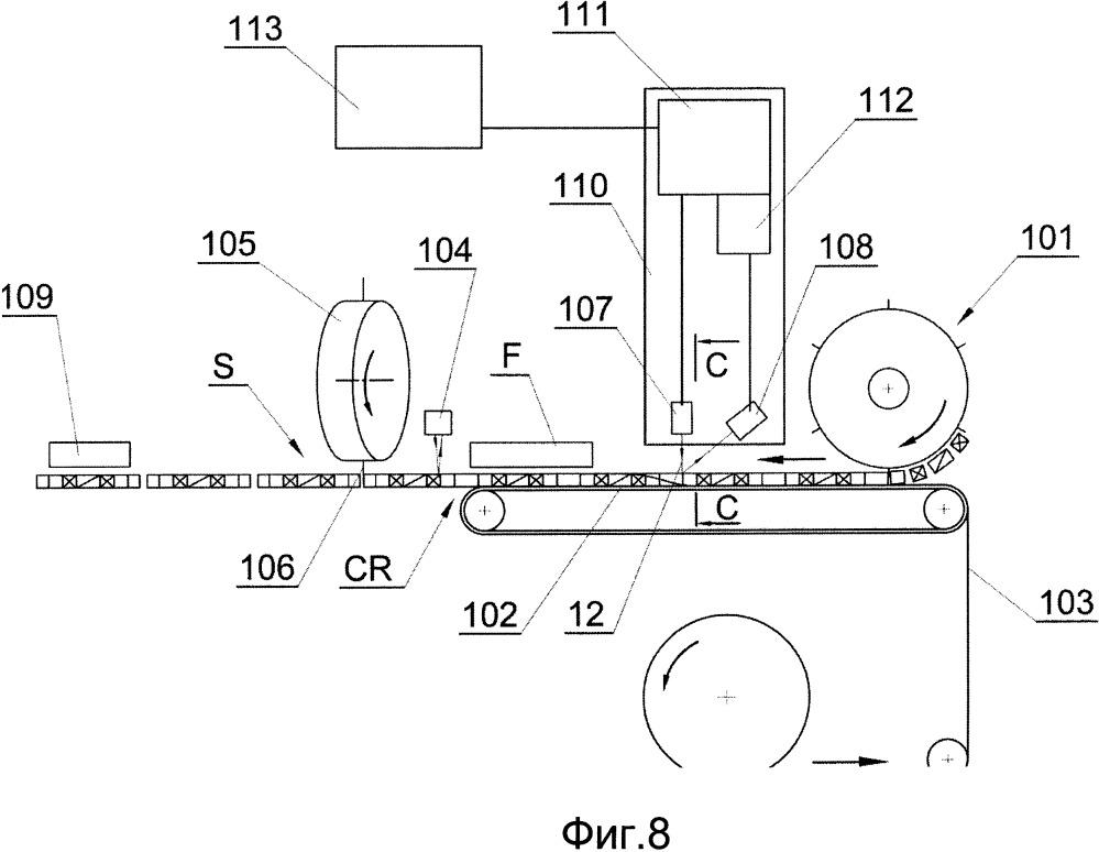 Способ и устройство обнаружения повернутых сегментов, транспортируемых в машине, применяемой в табачной промышленности, и машина для изготовления многосегментных стержней, содержащая такое устройство