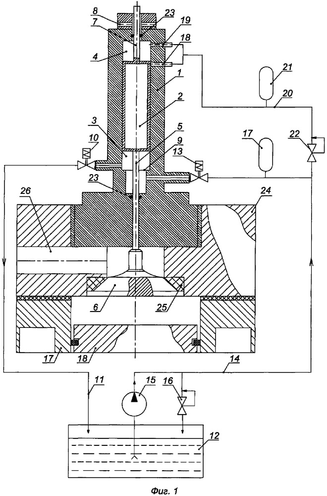 Система электрогидравлического привода клапанов двигателя внутреннего сгорания