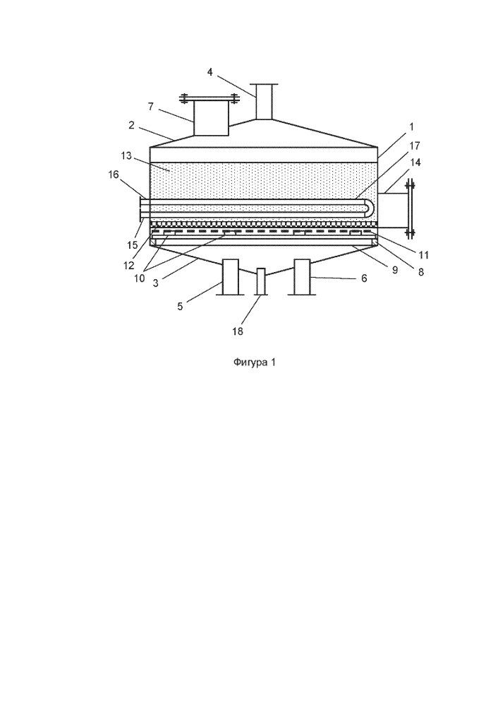 Адсорбер для проведения процесса короткоцикловой безнагревной адсорбции
