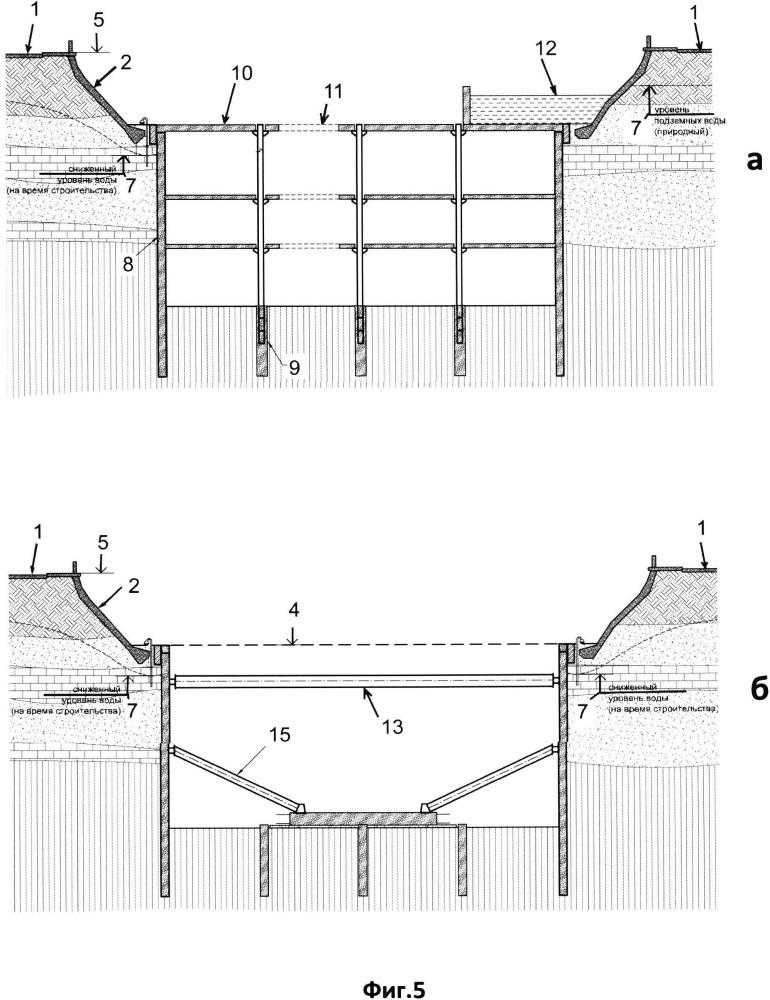 Способ возведения подземных сооружений вдоль русла реки или канала
