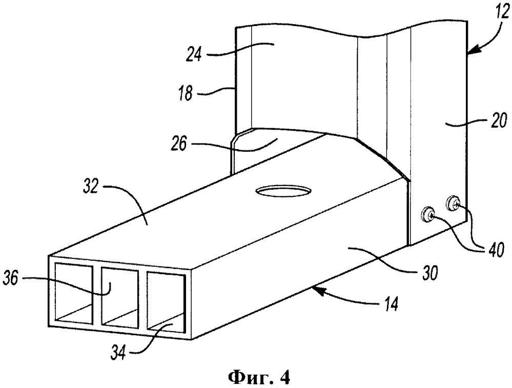 Сборная конструкция передней опорной рамы и опорной балки радиатора транспортного средства и опорная балка радиатора