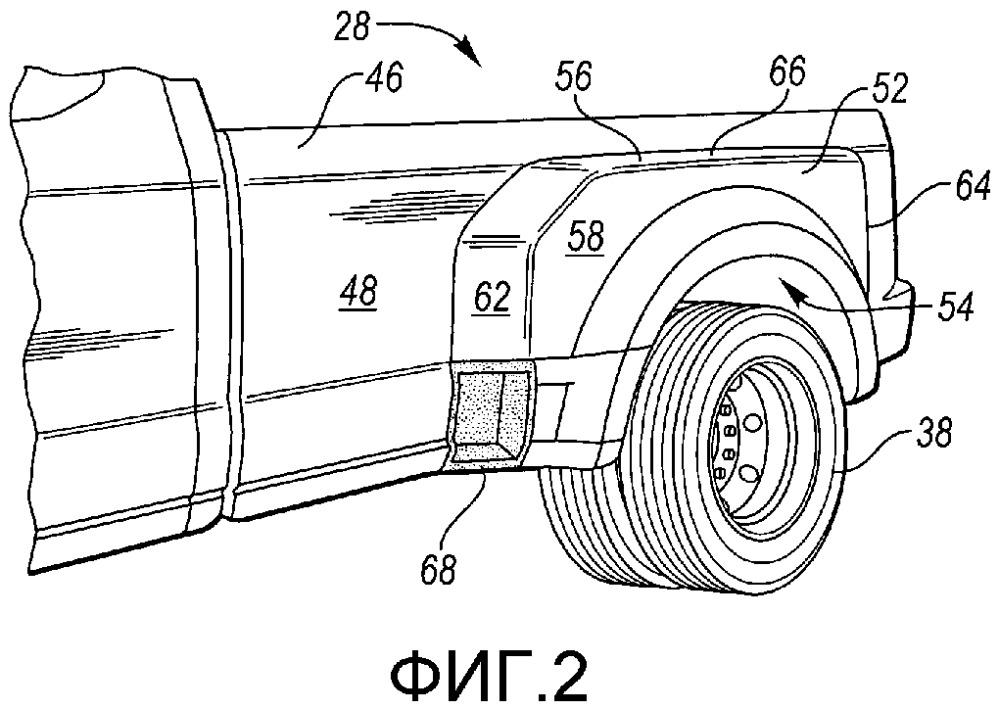 Двухскатный грузовик на шасси легкового автомобиля (варианты) и узел крыла для грузового кузова двухскатного грузовика