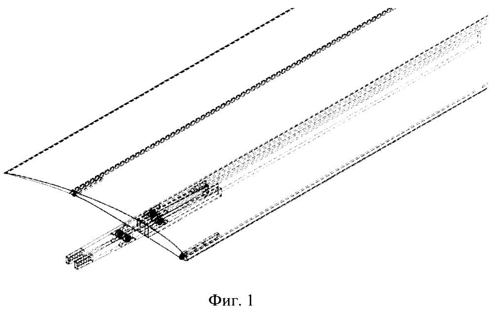 Крыло летательного аппарата с интегрированными солнечными панелями