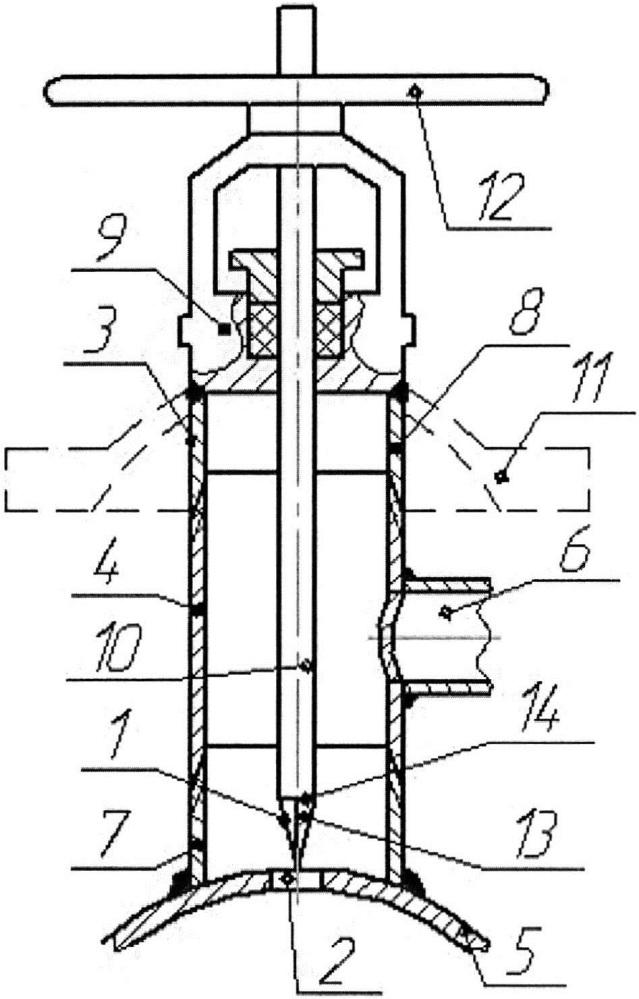 Устройство для выполнения отверстия в трубопроводе, находящемся под давлением