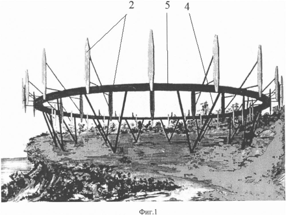 Высотная ветроэнергетическая установка (варианты)