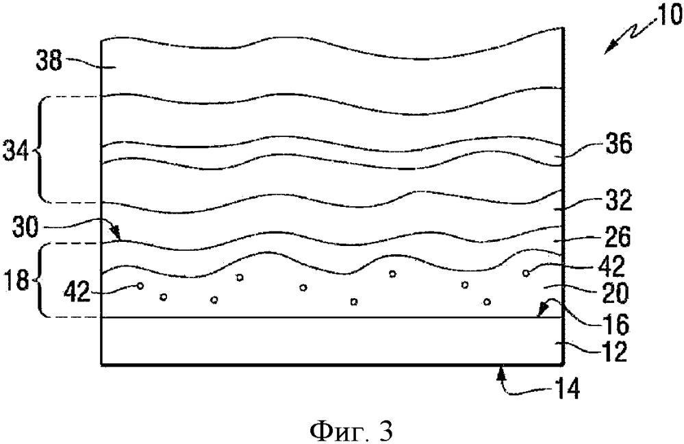 Органический светоизлучающий диод со слоем модификации поверхности