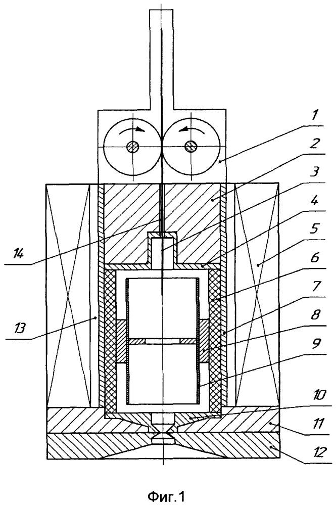 Источник водородных ионов в режиме постоянного тока с осцилляцией электронов и холодным катодом в виде подвижной струны