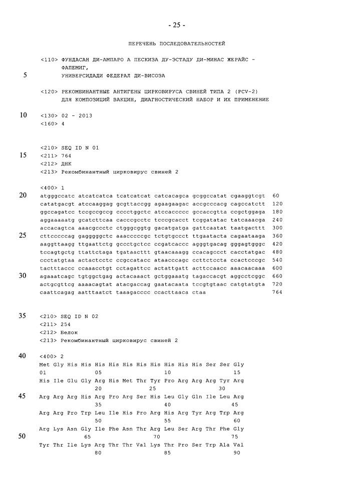 Рекомбинантные антигены цирковируса свиней типа 2 (pcv-2) для композиций вакцин, диагностический набор и их применение