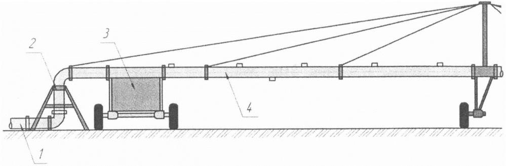 Дождевальная машина кругового перемещения для горных и предгорных участков местности