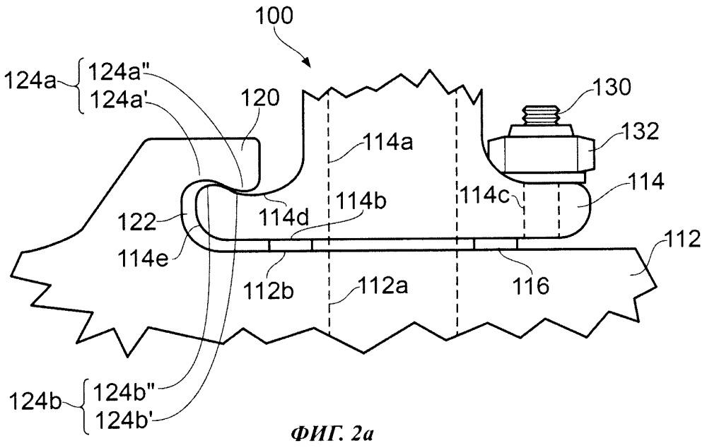 Соединительный узел турбонагнетателя (варианты), двигатель, содержащий такой соединительный узел, и способ соединения турбонагнетателя с выхлопным коллектором двигателя