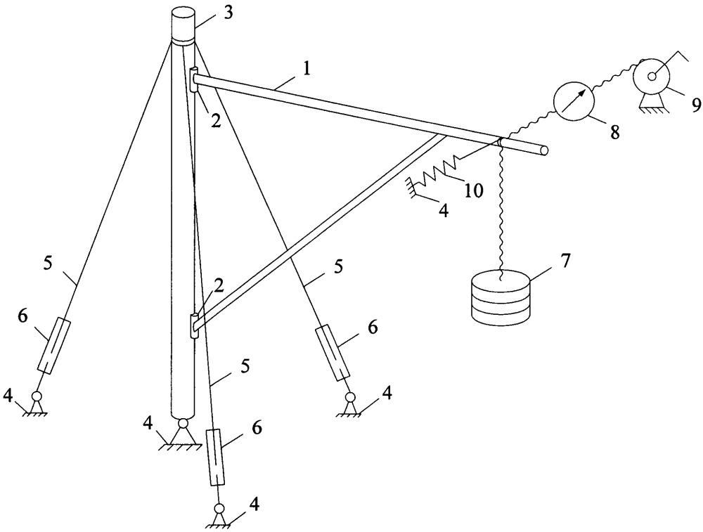 Устройство для исследования трения в узлах крепления консоли