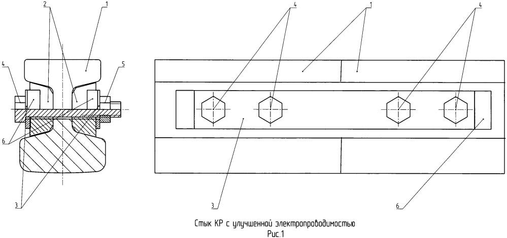 Нормальный и температурный стыки контактного рельса метрополитена с улучшенной электропроводностью
