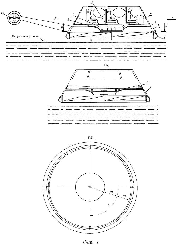Винтокрылый летательный аппарат с экранным эффектом