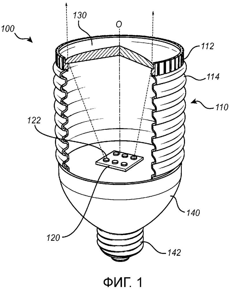 Световое устройство с гибкой оболочкой