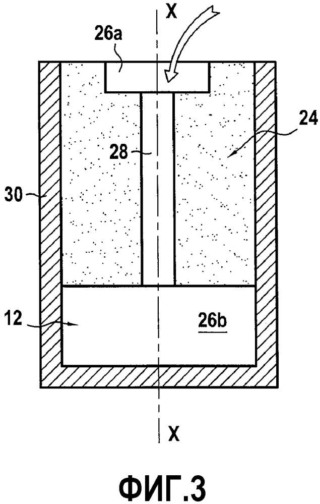 Способ изготовления двухкомпонентной лопасти для газотурбинного двигателя и лопасть, получаемая таким способом