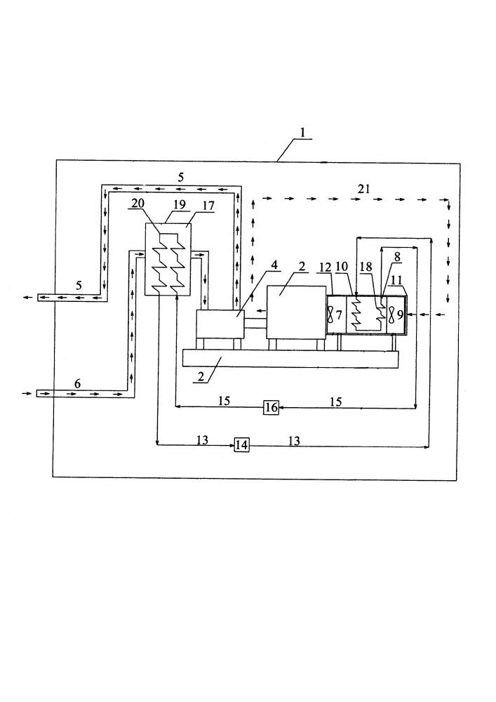 Устройство для охлаждения электродвигателей насосных агрегатов, установленных в перекачивающих станциях
