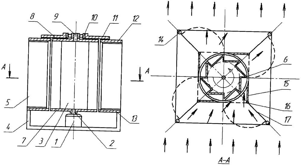 Ветряная регулируемая установка с вертикальной осью вращения