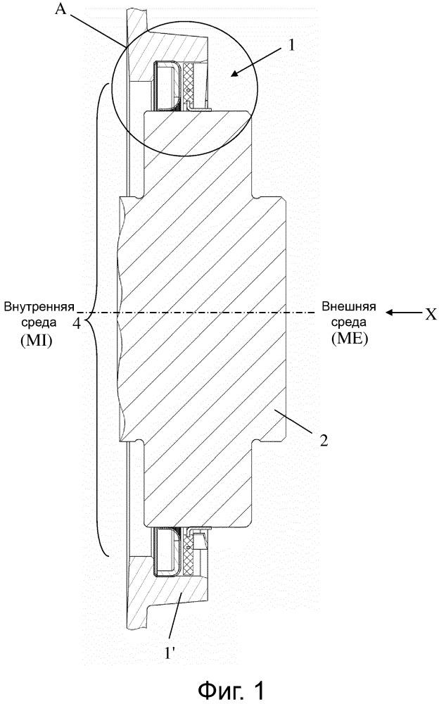 Уплотнительное устройство, в частности, для защиты от загрязнения внешними веществами