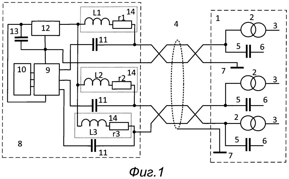 Устройство для передачи сигналов от многокомпонентного датчика вибрации с встроенной электроникой