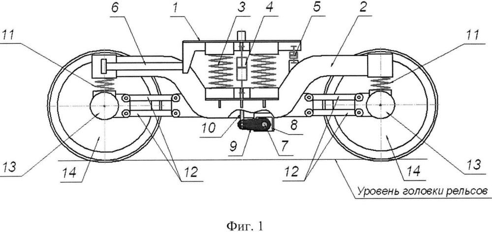 Тележка рельсового двухэтажного пассажирского транспортного средства
