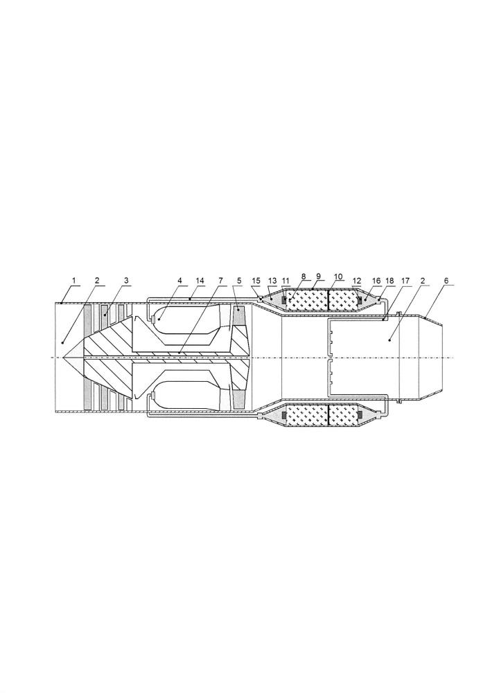 Многорежимный газотурбинный двигатель твердого топлива