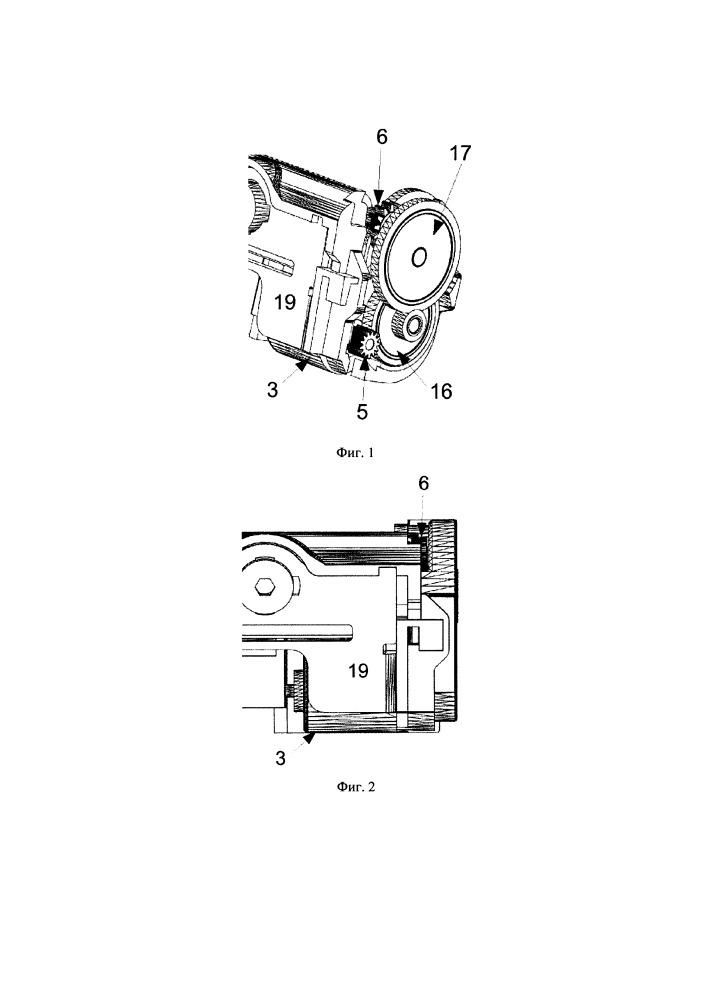 Механизм термопечати с компактной системой привода прижимного валика