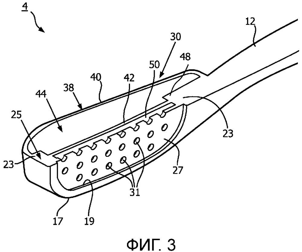 Устройство для ухода за полостью рта, имеющее безнасосную систему для подачи текучей среды