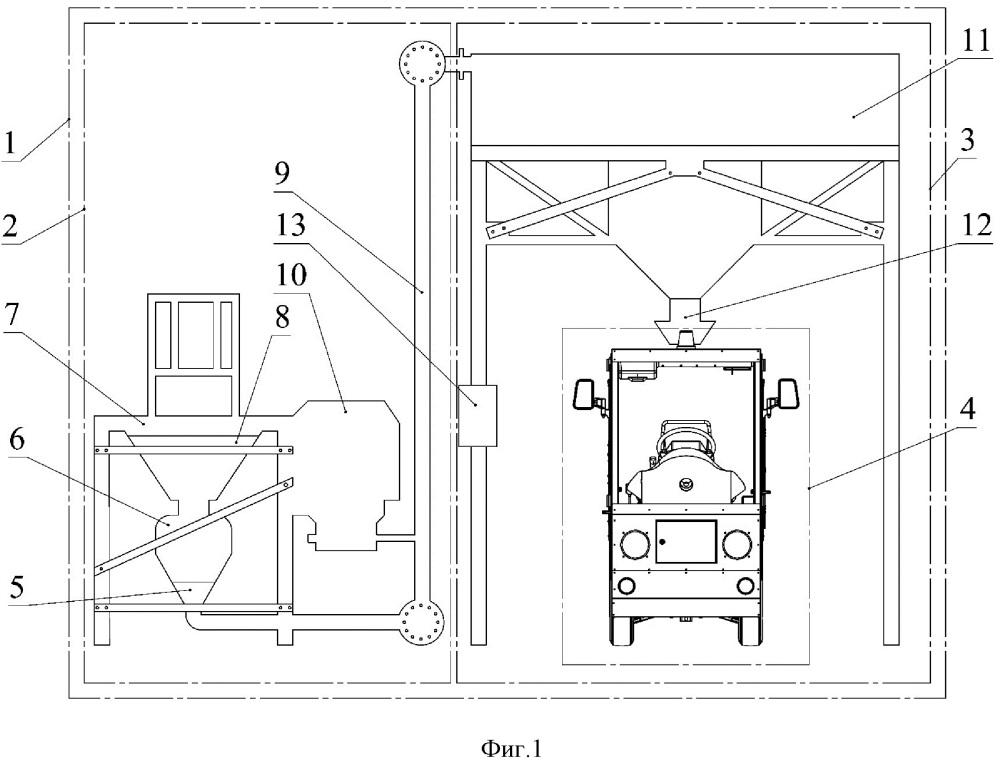 Автоматический погрузо-разгрузочный мобильный комплекс