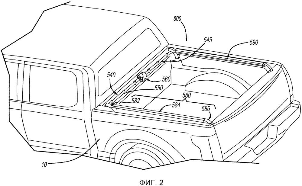 Закрывающая система грузового автомобиля (варианты) и способ обеспечения закрывающей системой грузового автомобиля