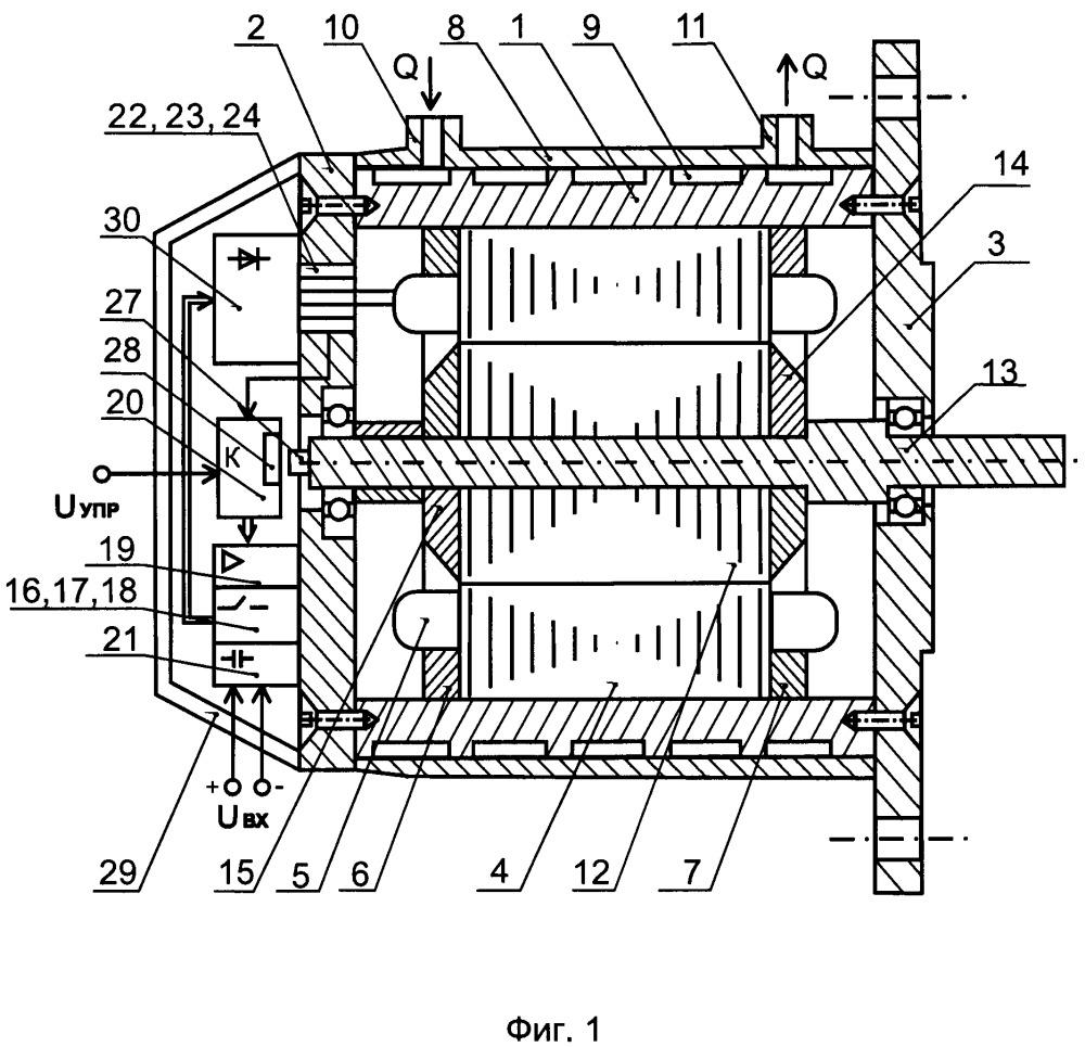 Индукторная электрическая машина со встроенным преобразователем