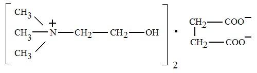 Применение холиновой соли янтарной кислоты в производстве средств лечения черепно-мозговой травмы