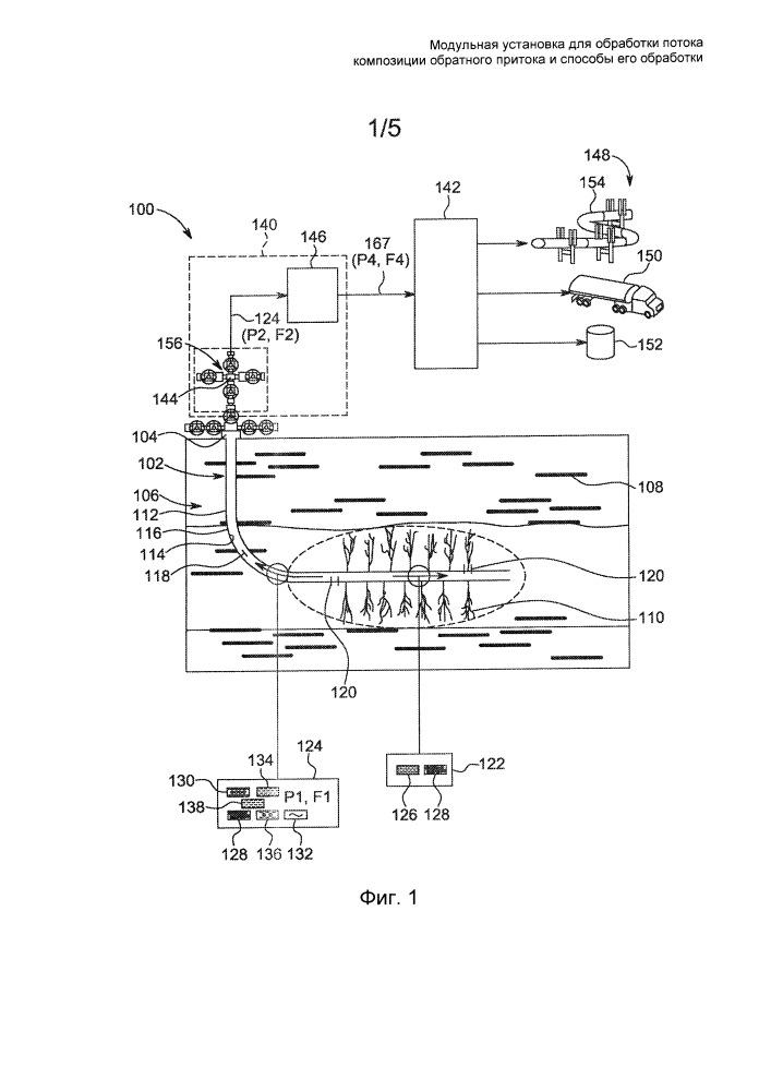 Модульная установка для обработки потока композиции обратного притока и способы его обработки
