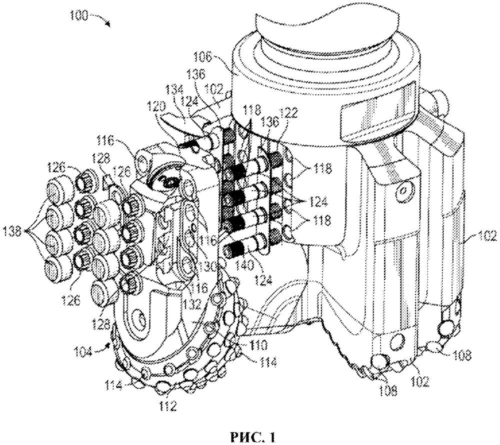 Комбинированное буровое долото с механическим креплением элементов шарошечного узла долота