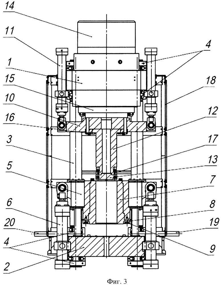 Вертикальный гидравлический пресс для компактирования в брикет бочки с твердыми радиоактивными отходами