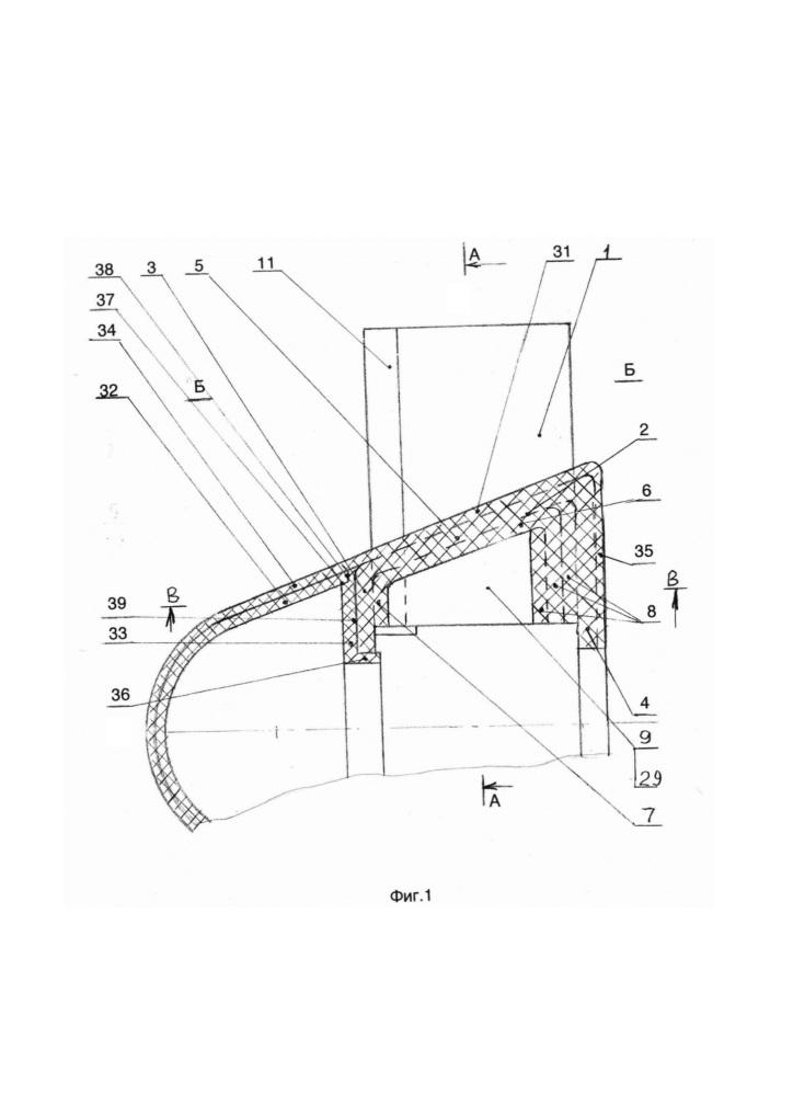 Рабочее колесо вентилятора с обтекателем и способ изготовления из композиционного материала