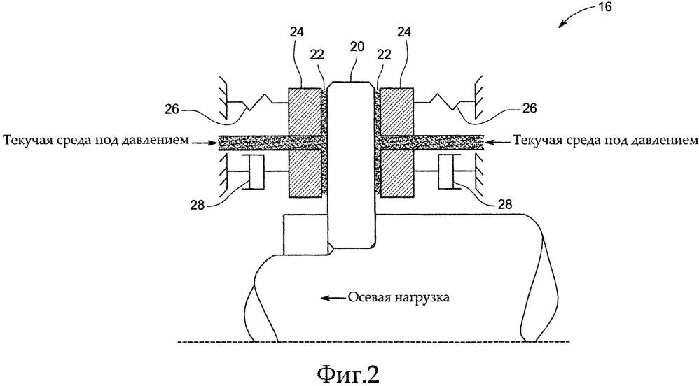 Гибридный упорный подшипник с газовой смазкой, имеющий податливый корпус