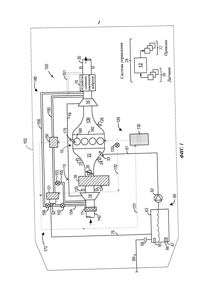 Система и способ извлечения воды из отработавших газов для системы впрыска воды