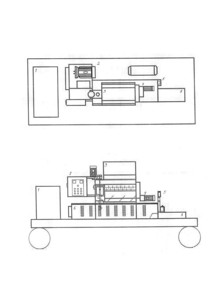 Установка для предварительной переработки отходов полимеров и вспененных полимеров на месте их сбора