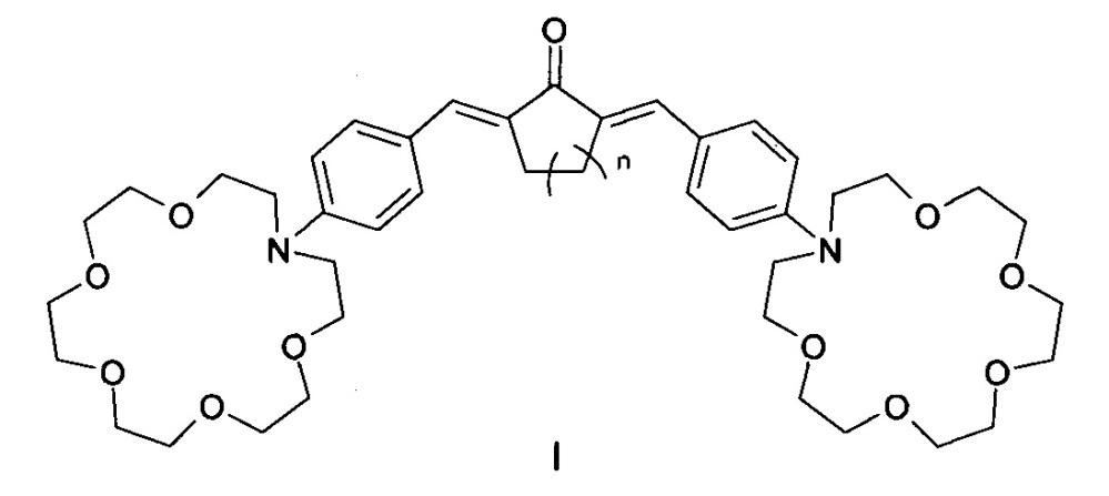 Бисаза-18-краун-6-содержащие диеноны в качестве оптических молекулярных сенсоров для определения катионов щелочных, щелочноземельных металлов и диаммония и способ их получения