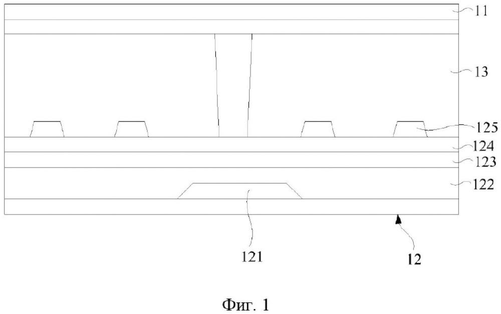 Подложка матрицы и сенсорная панель