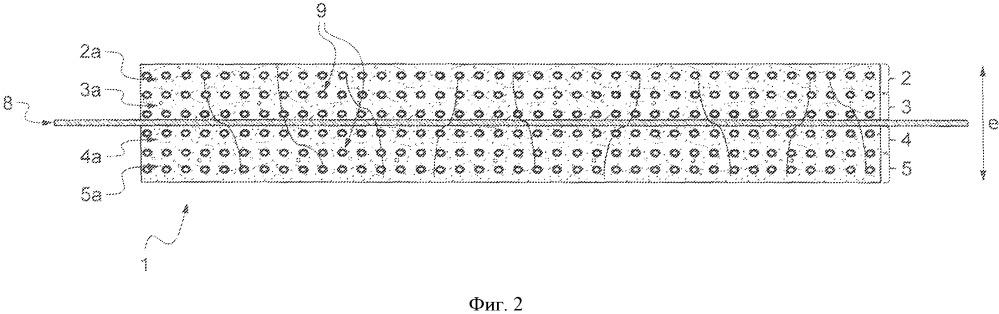 Композитная панель с ячеистой термореактивной матрицей, способ изготовления и структура для покрытия стенки, образованная соединением панелей
