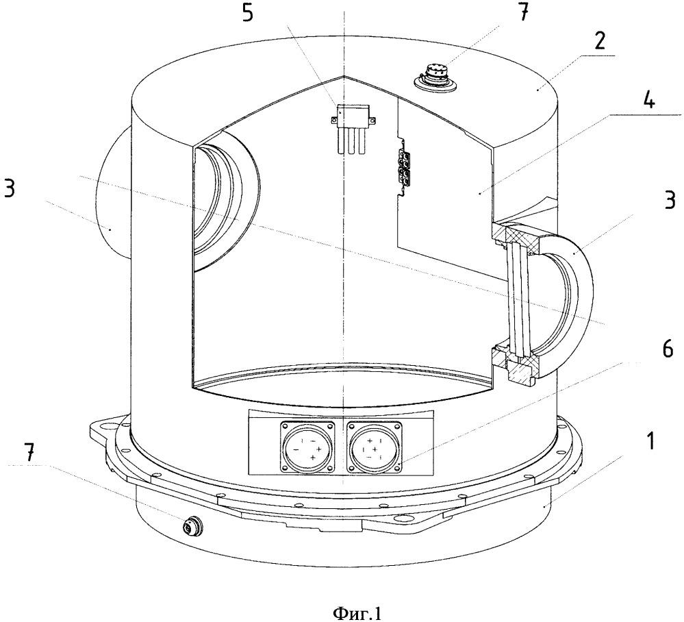 Контейнер для оптико-электронных приборов
