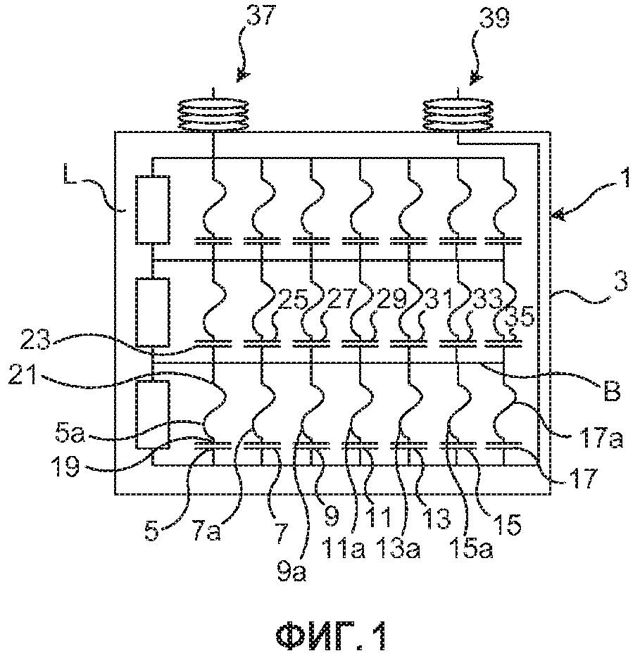 Блок силового конденсатора для применений в условиях высокого давления