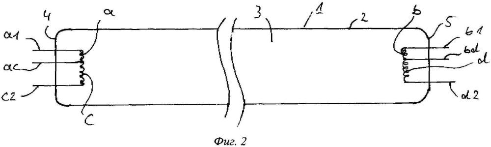 Ультрафиолетовый излучатель низкого давления с несколькими нитями