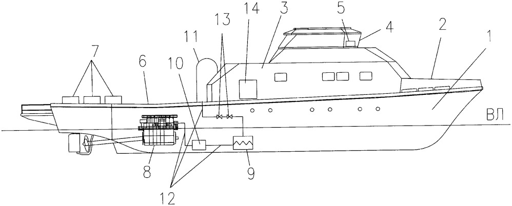 Учебно-исследовательское газотопливное судно