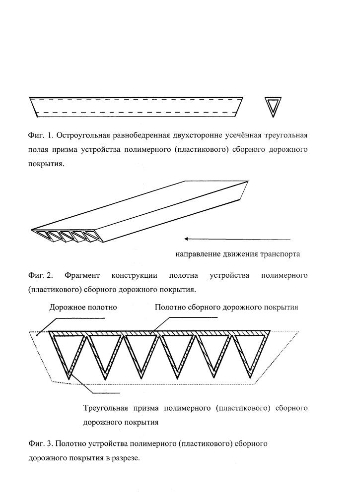 Устройство полимерного (пластикового) сборного дорожного покрытия